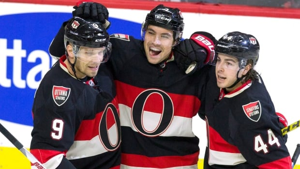 Bear with us, we will make one photo represent five stories to watch in 2016: Cody Ceci (centre) plays for the Ottawa Senators, who are one of the local teams following up surprising 2015 playoff runs. He plays in the riding of Kanata-Carleton, which has a new Liberal MP. His team is lobbying both the NCC to move to LeBreton Flats and the NHL to have an outdoor game in 2017. Ceci was also the first Uber customer in Ottawa when it launched in 2014.