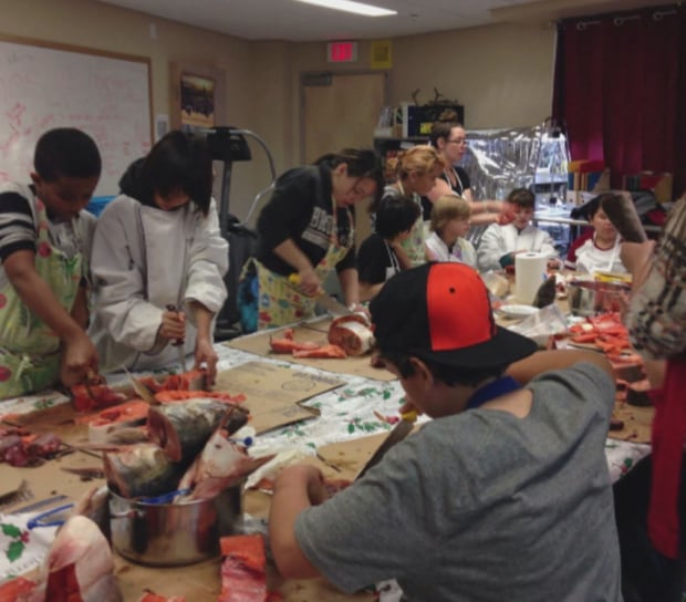 Inuvik students traditional food