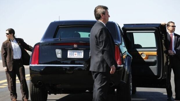 High-profile presidential candidates such as Democratic front-runner Hillary Clinton are accompanied by a Secret Service detail such as the one seen here.