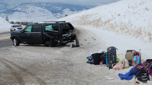 The driver of this SUV is facing several charges, including carrying too many passengers.