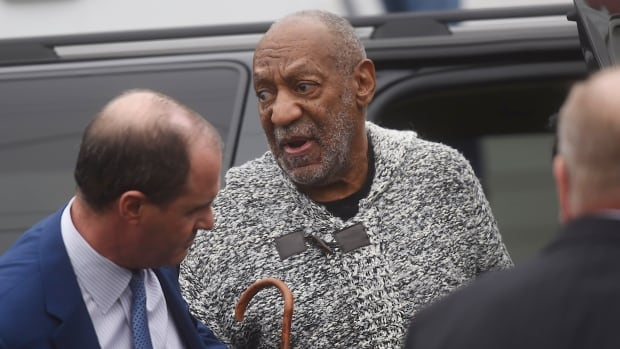Bill Cosby arrives for his arraignment on sexual assault charges at the Montgomery County Courthouse in Elkins Park, Pennsylvania on Wednesday.