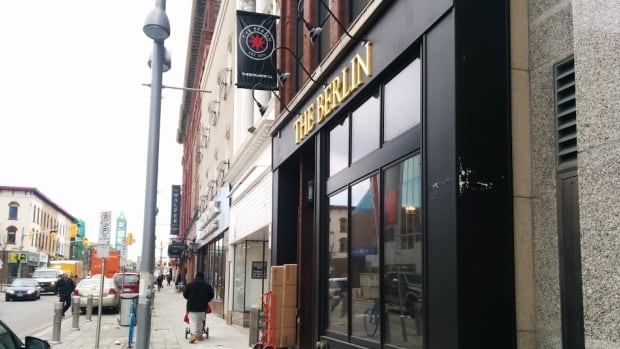 The Berlin at 45 King St. in downtown Kitchener had to shut down Saturday night after the fire suppression system went off, spraying water and a chemical foam all over the kitchen equipment and food.