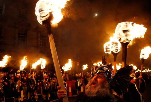 Unusual New Years celebrations Hogmanay Vikings fire parade