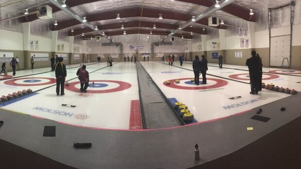 Curlers at the Callie curling club in Regina were celebrating New Year's Eve, and marking the club's 100th anniversary.