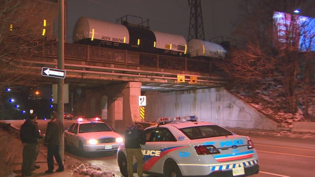 Police say the teen was walking with friends along the tracks around 3 a.m. when the train hit.