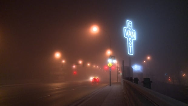 Environment Canada warns drivers to slow down and watch for tail lights amidst heavy patches of fog across Metro Vancouver.