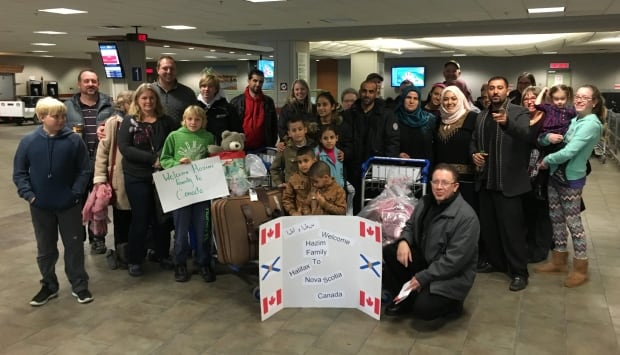 Hazim family's arrival