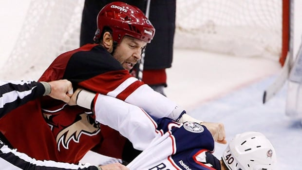 Arizona Coyotes' John Scott, commonly known around the league as a fighter and not a goal scorer, was named an all-star game captain after fans voted him in as the representative for the Pacific division.