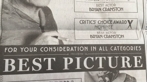 'For your consideration' ads are rampant in Hollywood as studios and distributors try to get their films an Oscar nomination from Academy voters