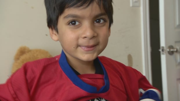 Syed Adam Ahmed, 6, has had trouble travelling because his name appears on the no-fly list, his parents say.