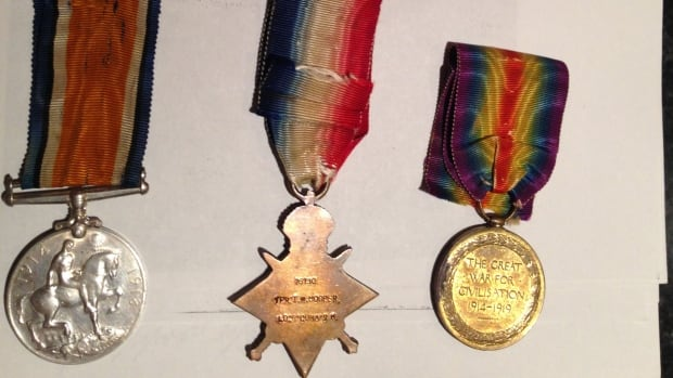 John Cunningham says he couldn't resist buying Cpl. Thomas Warburton Hooper's medals when he encountered them.