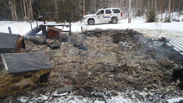 The RCMP are investigating a fire that destroyed a cabin on Shady Loop Road in the Big Bonne Bay Pond area.