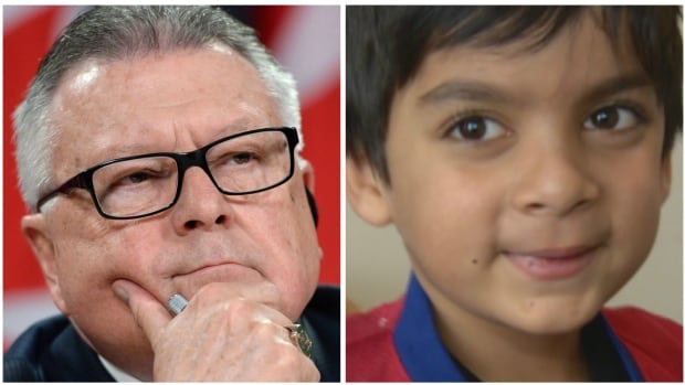 Ralph Goodale, the federal public safety minister, has said he'll investigate the case of a six-year-old Markham, Ont. boy, Syed Adam Ahmed, whose name appears to be on a travel security risk list.