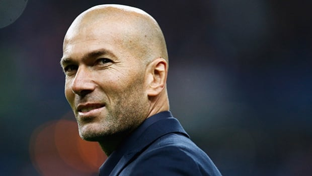 "Zinedine Zidane had been coaching Madrid's ""B"" team in the third division."
