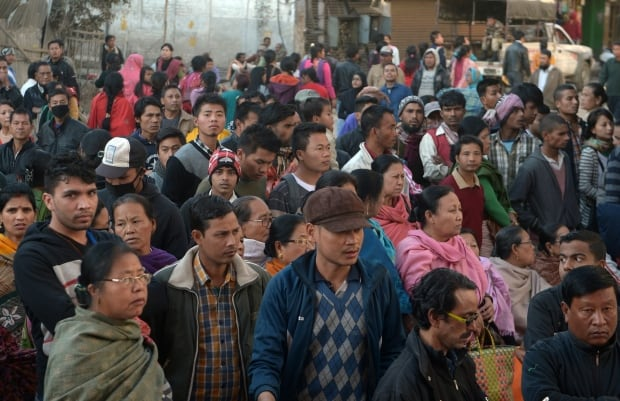 India earthquake traders market Imphal