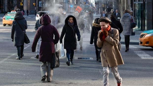 Bundle up if you're walking to work on Wednesday. Environment Canada is calling for snow and strong cold wind gusts.