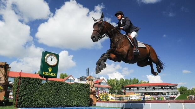 Venezuela's Andres Rodriguez, shown competing at Spruce Meadows, was looking forward to representing his country at the 2016 Olympics in Rio after an impressive outing at the Pan Am Games in Toronto over the summer.