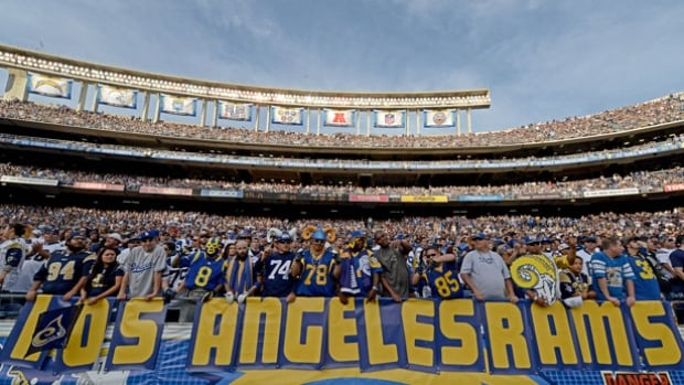 Los Angeles hasn't had any NFL teams since the 1994 season when the Rams visited the San Diego Chargers. The Chargers, Oakland Raiders and St. Louis Rams have all applied to relocate to Los Angeles for the 2016 season.