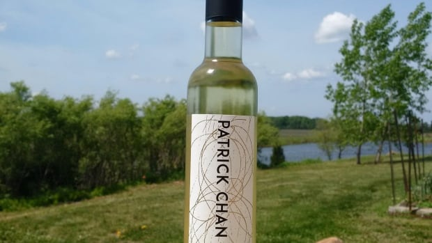 "Patrick Chan's ""On Ice"" ice wine, a 2013 Riesling Icewine from the Niagara Peninsula, is shown in this undated handout photo."
