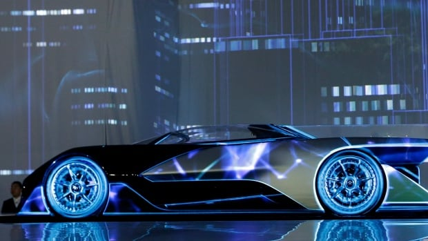 California-based Faraday Future debuted its sleek electric concept racecar, The FFZero1, Monday night during a preview ahead of the annual Consumer Electronics Show in Las Vegas.
