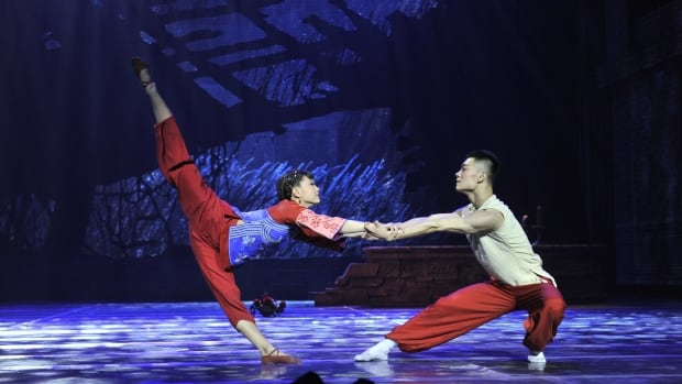 Opera Warriors features a mix of modern dance, acrobatics, and martial arts.
