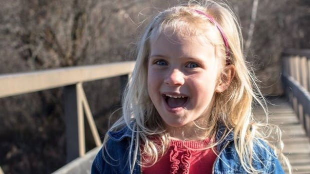 Five-year-old Kamryn Van de Vorst was injured in a highway accident near Saskatoon this weekend. She died later in hospital.
