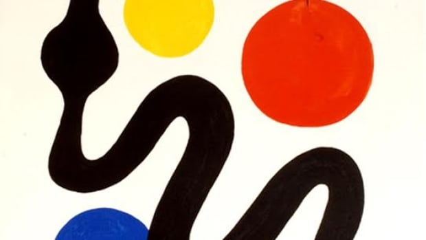 Alexander Calder's lithograph Serpent is currently for sale at Ottawa's Cube Gallery.