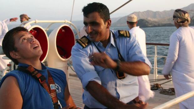 Saimaniq Temela sails on the Arabian Sea.