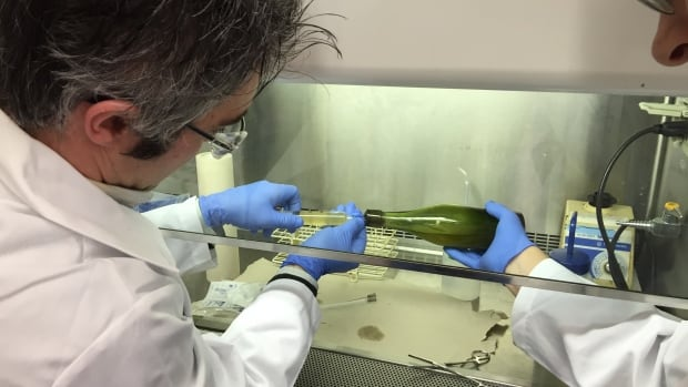 Researchers at Dalhousie University tested the liquid found inside a historic bottle of Alexander Keith's beer found off the coast of Halifax, confirmed it was beer, and tasted it. They kept the bottle's cork intact by extracting the beer through a syringe.