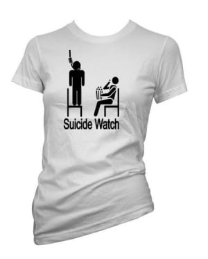 Amazon shirt Suicide Watch