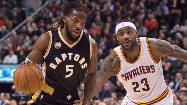 The Raptors' DeMarre Carroll, left, will be out of the team's lineup for the foreseeable future after having arthroscopic surgery on his right knee Wednesday in New York. The first-year Raptor has averaged 11.7 points, 4.8 rebounds and 31.9 minutes in 23 games after averaging 12.6 points per game with Atlanta last season.