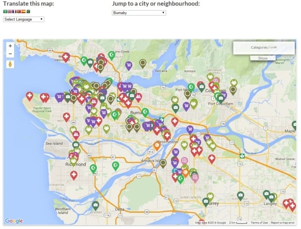 vancouver welcome map