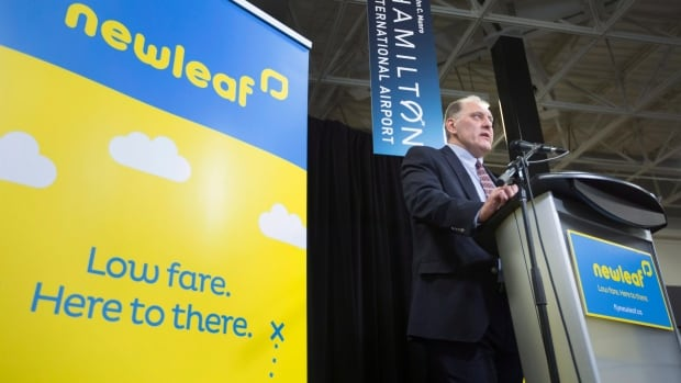 NewLeaf Travel, launched Wednesday at John C. Munro Hamilton International Airport, will start offering flights to Canadians at an 'ultra-low cost' starting February.