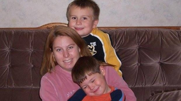 Harrison Vien (top) is seen here with his mother in this family photo from around the time he was first stopped. Vien was told that he was on a no fly list when he was eight years old.