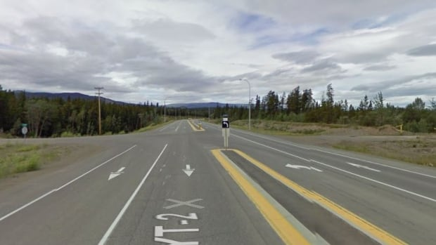 The Alaska Highway near the Mount Sima cut-off, south of Whitehorse.