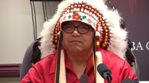 Chief of Pine Creek First Nation Charlie Boucher
