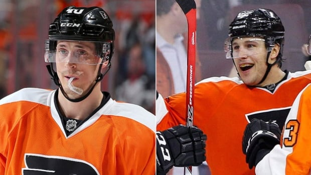 The Los Angeles Kings have opened up their pocketbooks in obtaining forward Vincent Lecavalier, left, and defenceman Luke Schenn from the Philadelphia Flyers in exchange for Jordan Weal and a third-round pick.
