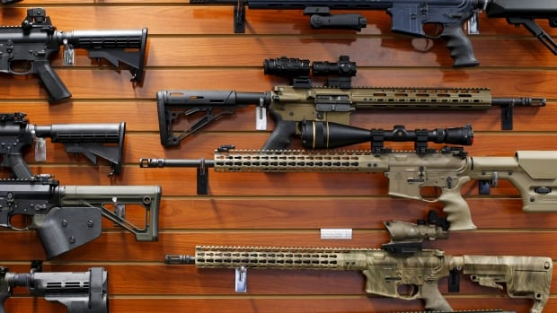 These guns were on sale in California on Monday, the same day U.S. President Barack Obama announced new, tighter gun rules in the wake of a wave of mass shootings last year.