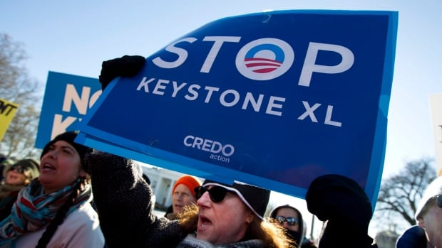 The Keystone XL pipeline, which became a focal point of environmental protests, would have shipped bitumen from Alberta's oilsands through a pipeline hub in the Hardisty area to U.S. Gulf Coast refineries.