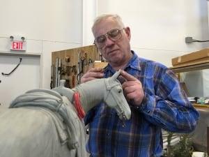 Don Begg in his studio