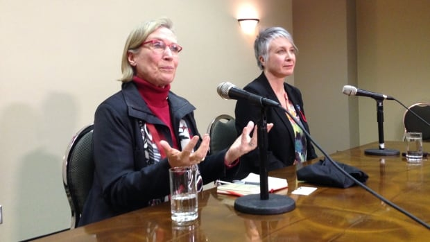 Indigenous Affairs Minister Carolyn Bennett and Minister of Status of Women Patty Hajdu took part in consultations with families of missing and murdered indigenous women in Thunder Bay, Ont., on Wednesday.
