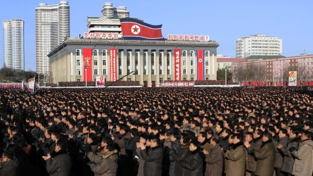 North Koreans rally at Kim Il Sung Square in Pyongyang for leader Kim Jong-un's new year address, Jan. 5, the day before what appears to be North Korea's fourth  nuclear test.