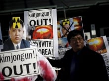 North Korean leader Kim Jong Un blamed South Korea for increased mistrust in a New Year speech Friday, after a year of heightened tension between the rival countries.