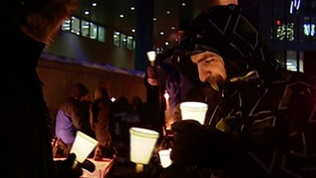 About 50 people attended a candlelight vigil in front of Calgary City Hall on Wednesday, to protest against the execution of Shia cleric Sheikh Nimr al-Nimr.