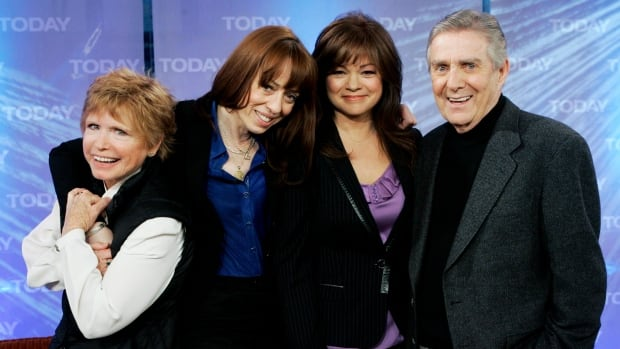 This file photo shows, from left, Bonnie Franklin, MacKenzie Phillips, Valerie Bertinelli and Pat Harrington of the 1970's television sitcom One Day at a Time.
