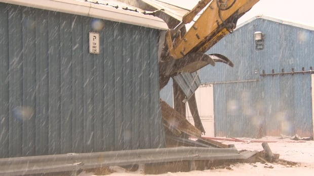 Demolition work has begun at Evraz Place, the exhibition grounds in Regina, to make room for a new trade show facility.