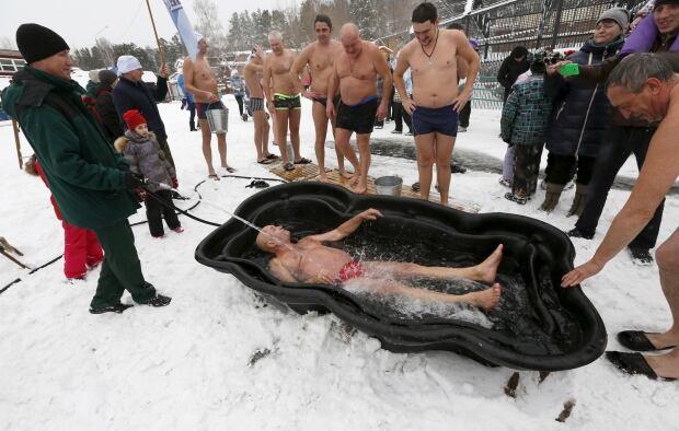 Siberia Cryophile swim club polar bear dips all the time Nov 29 2015