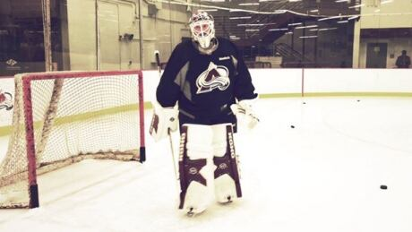 Patrick Roy Dons Goalie Pads In Practice With Avalanche