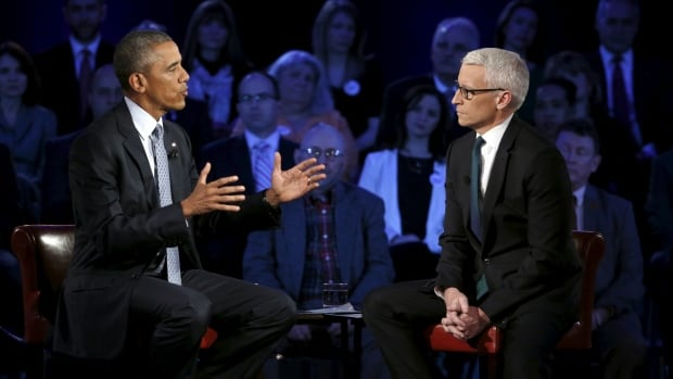 Obama shot a withering glare at the CNN host when Cooper asked if it was fair to dismiss conservative criticisms as conspiratorial rhetoric.