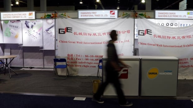 U.S. marshals seized the assets and marketing materials of Changzhou First International Trade Co., Ltd. from its booth at the CES gadget show on Thursday.